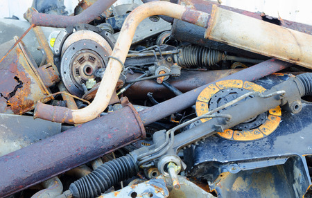 worthless: Useless, worn out rusty brake discs shock absorber and other parts
