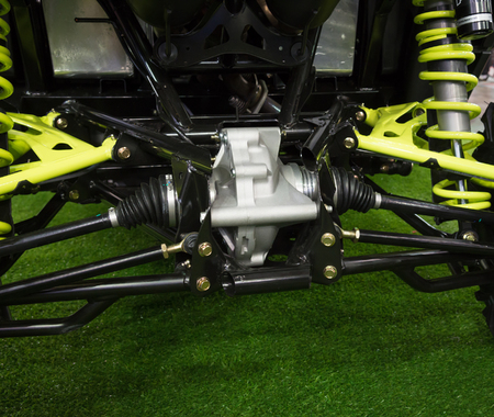 hooking: Rear view reducer and axle of new modern tractor