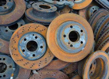 spares: Useless, worn out old rusty brake discs