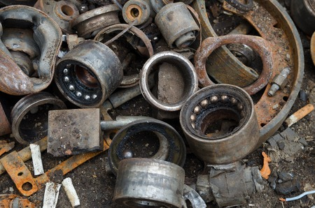 useless: Useless, worn out rusty bearings and other parts