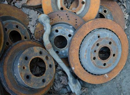 useless: Useless, worn out old rusty brake discs