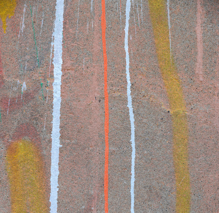 abstract paint: abstract paint drips on concrete wall after paintball playing Stock Photo