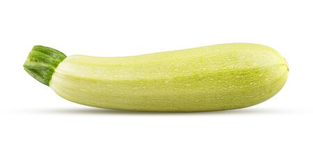 Closeup of zucchini isolated on white