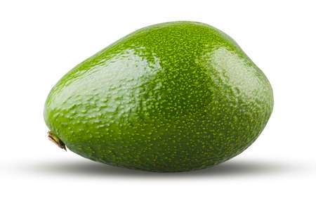 Perfectly retouched avocado fruit isolated on white. High resolution and full depth of field