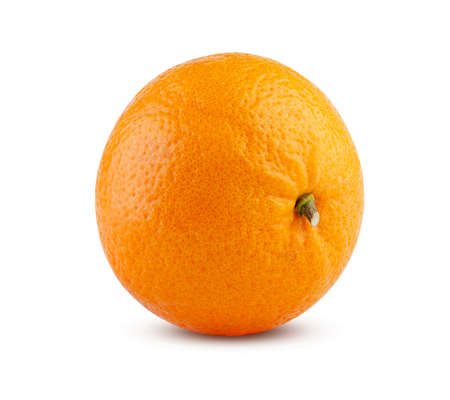 Excellent fresh tangerine isolated on white. High detail, excellent retouching