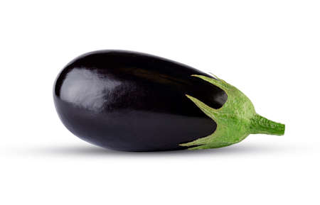 Eggplant isolated on white background. Fresh aubergine vegetable. Excellent retouching quality, high resolution and full depth of field