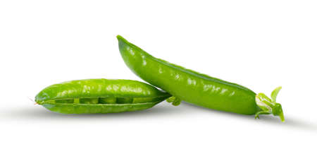 Green peas isolate on a white background. Great vegetable concept. Stock Photo