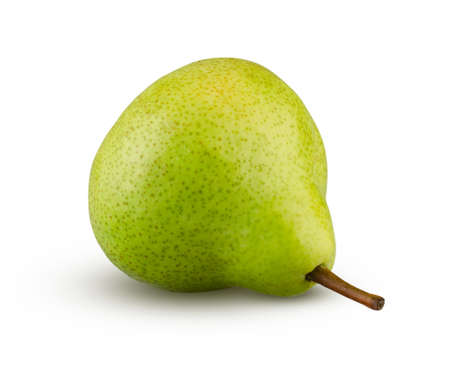 Green williams pear fruit isolated on white background. Perfectly retouched and full depth of field Stock Photo