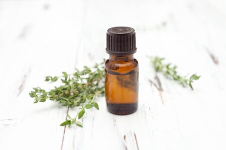 thyme: oil of thyme fresh sprigs of thyme