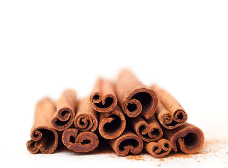 christmas scent: Cinnamon sticks in the recipes of cosmetics and cooking, folk medicine Stock Photo