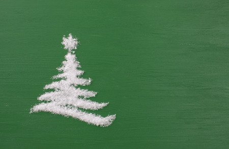 Christmas green background image with space for text insertion. Stock Photo