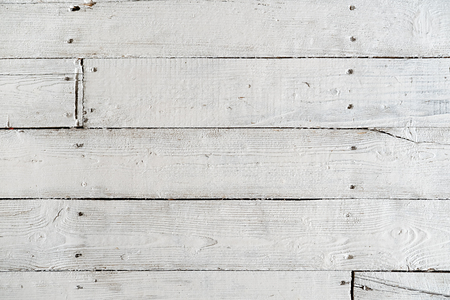 Textur von lackierten Dielen mit weißer Farbe Standard-Bild