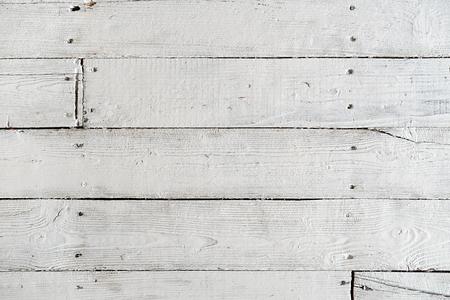 Textuur van geverfde vloerplanken met witte verf Stockfoto