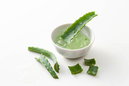 Aloe vera on white