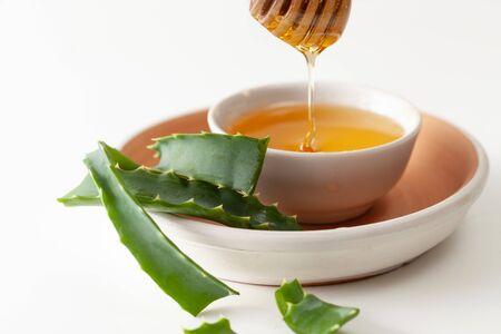 Aloe vera and honey on whites
