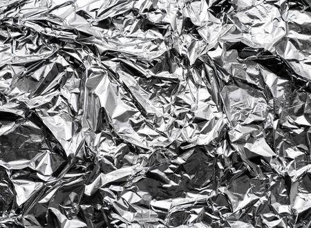 Background texture aluminum shiny foil with jams. Banque d'images