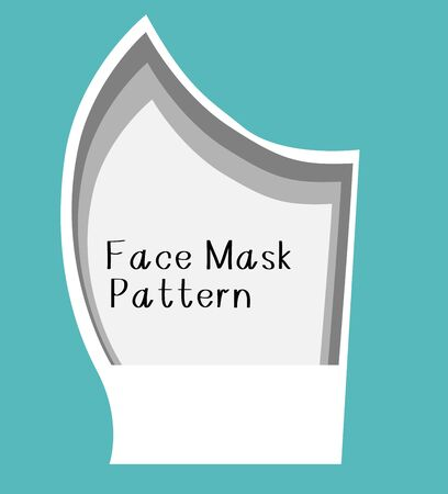 Vector diy face mask pattern make a mask without a sewing machine Ilustracje wektorowe