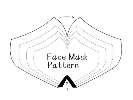 Vector diy face mask pattern make a mask without a sewing machine