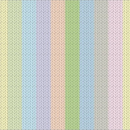 knitted texture, pattern, with a vertical stripe, different gentle color Illustration