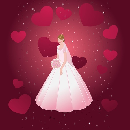 the young beautiful bride Stock Vector - 17600779