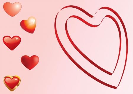 Zestaw różnych serc - Karta, tło