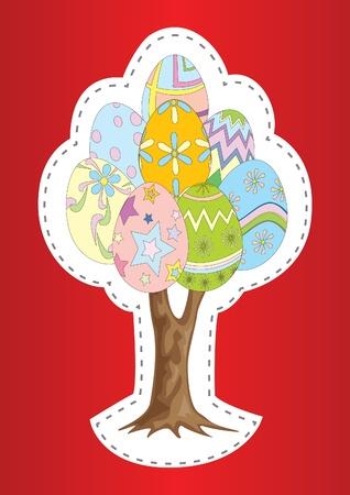 Easter egg drzewo ilustracji wektorowych