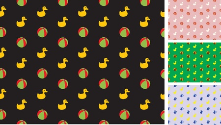 children s pattern with ducks and balls