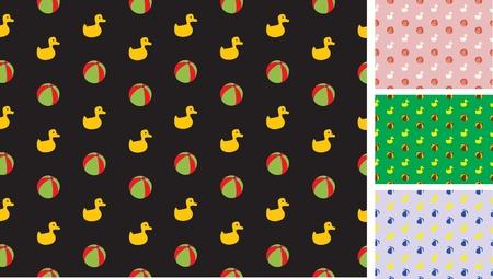 wzór dziećmi S z kaczek i bale