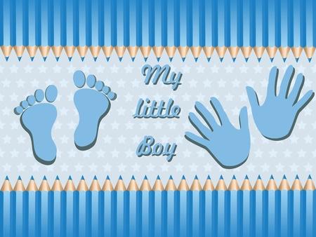 Chłopiec Baby Ogłoszenie Karta wektor