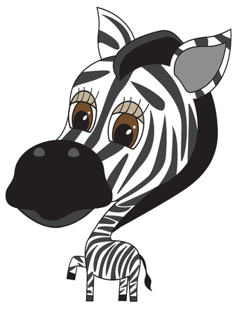 vector cartooon Illustration of cute Zebra Vector