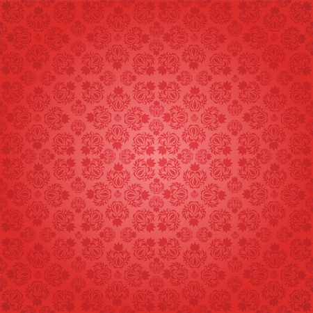 Decorative red seamless wallpaper