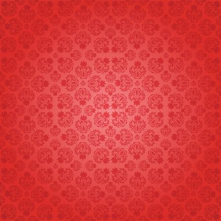 Decorative red seamless wallpaper