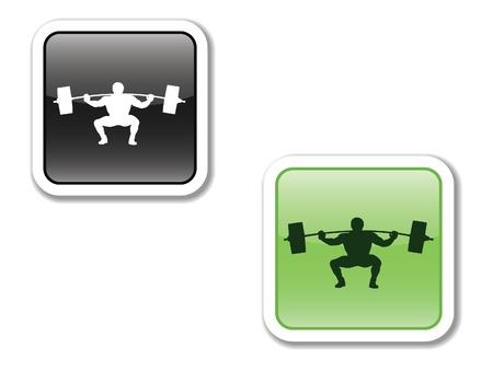 icons, buttons, for the phone and website, indicating the SPORT, EFFORT, TRAINING, ACHIEVEMENTS,HEALTH