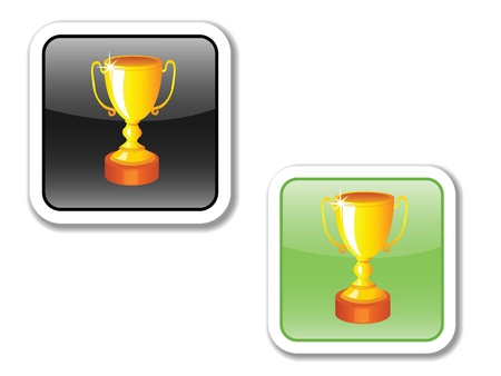 vector icons, buttons, for the phone and website, indicating the SPORT, EFFORT, TRAINING, ACHIEVEMENTS,HEALTH