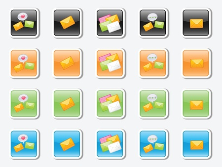 a set of vector icons on the message Illustration