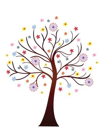 Piękne kwitnące drzewa wiosna
