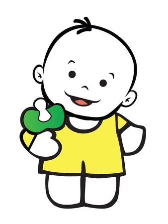 Little unisex baby Vector