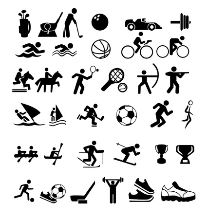 set of isolated icons about sports