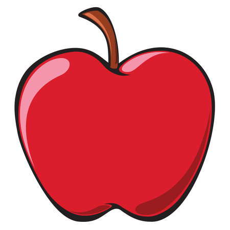 Apple illustration over white
