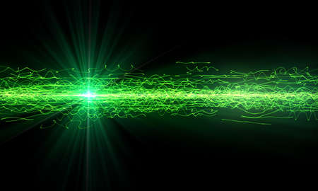 green lines: abstract Green technology background over black
