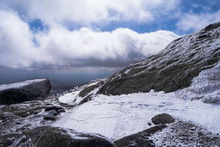뉴욕의 Adirondack 산에있는 Mount Marcy 정상 회담