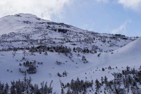 Adirondack 산, 뉴욕에있는 마운트 마시의 남자 스키 정상 회담