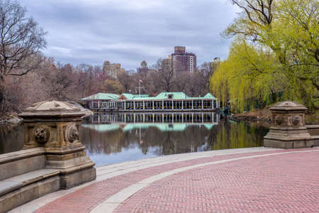 boathouse: Central Park and the boathouse on Hessian Lake