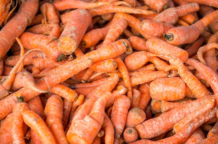 heap: Carrots piled up at a farmers market