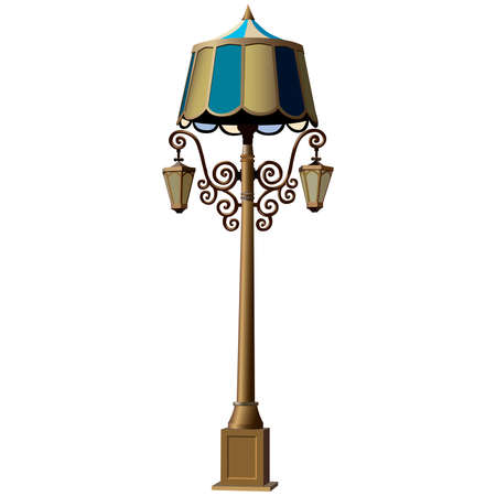lamp post: Illustration of realistic lamp post