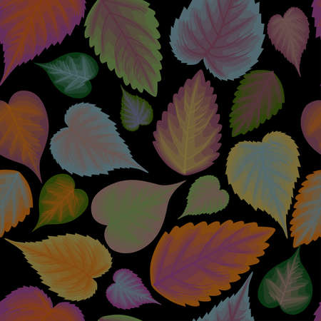 Seamless background from colorful leaves Banco de Imagens - 49256753