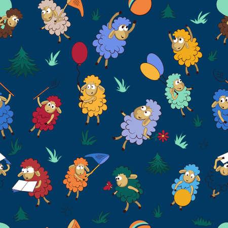 Seamless background pattern with happy color. Ilustração