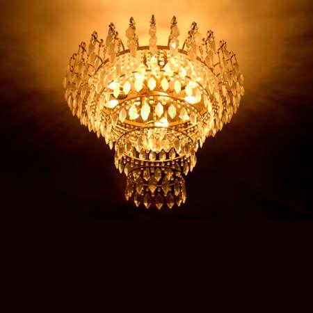 vintage chandelier: crystal chandelier