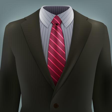 dressy: traje gris con corbata