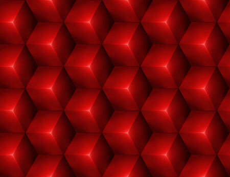 3d Abstract seamless background with red cubes Vector
